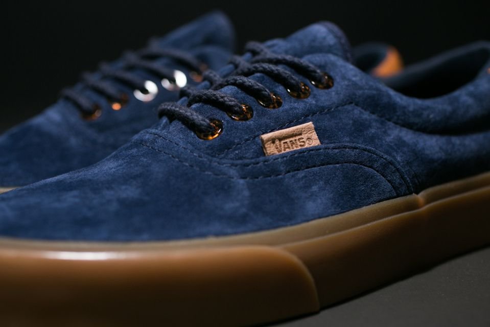 vans era suede dress blue
