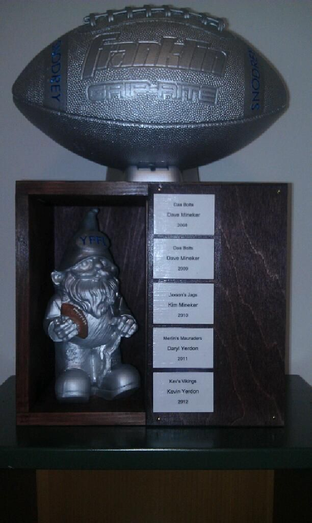 YFFL Fantasy Football Trophy (homemade!) Love it!! | Being ...