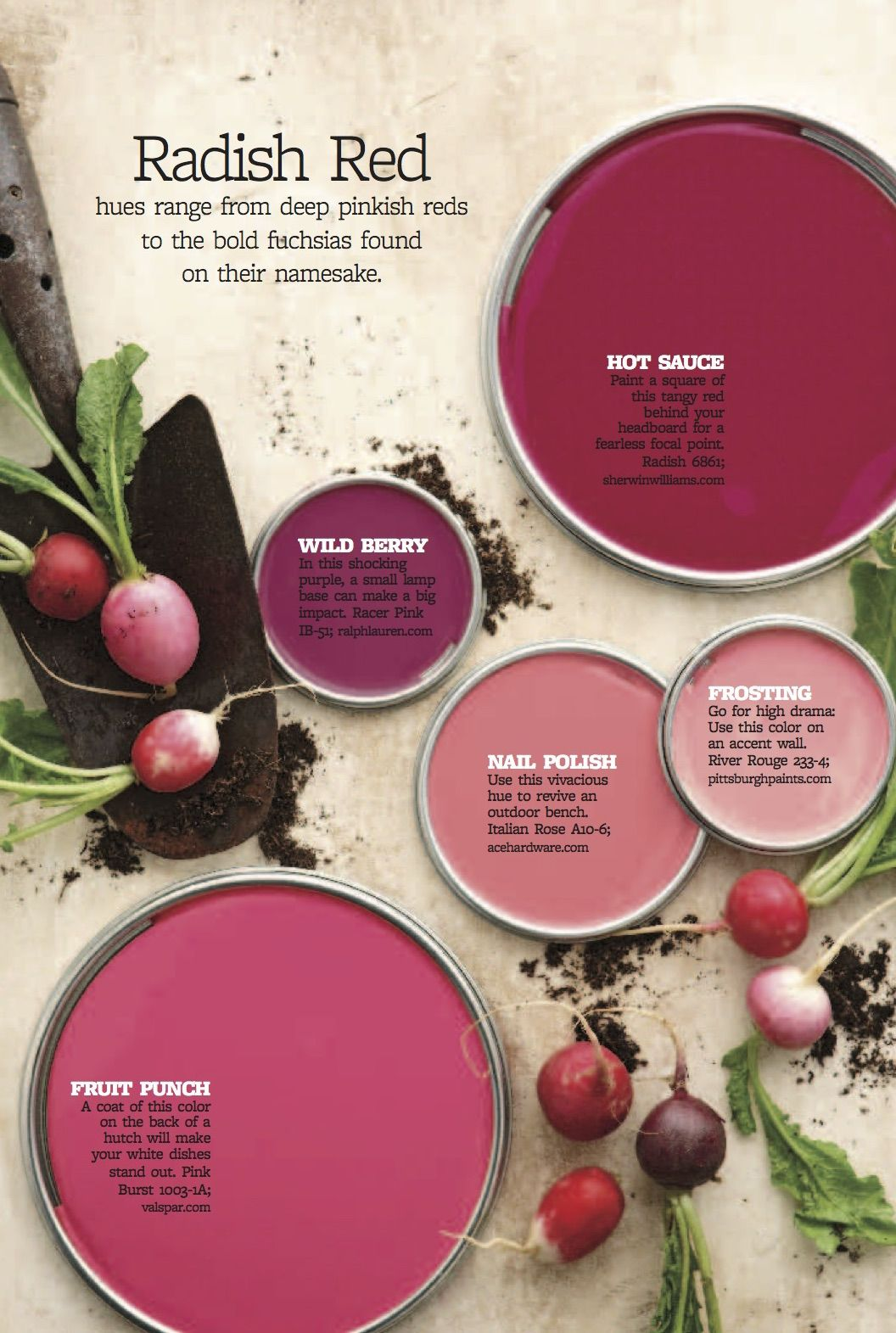 Color Personality: Radish Red | Paint | Pinterest | Personality ...