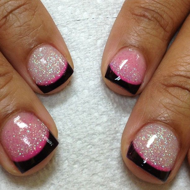 Tammy Taylor colored acrylic over natural nails... Dark purple ...