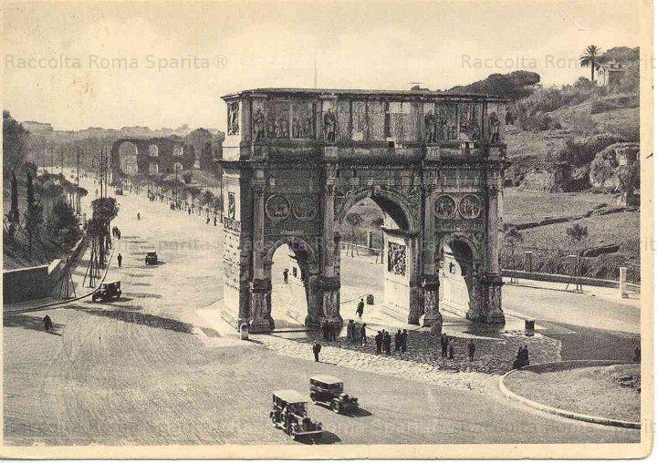 Arco di Costantino e via di San Gregorio Anno: cartolina spedita il 19 Nov. 1941 con francob. da 20 cent