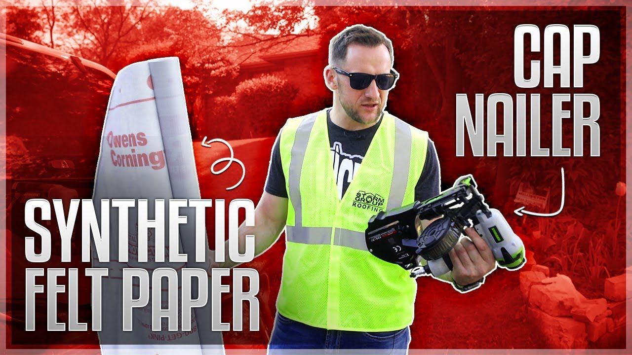 Stinger Cap Nailers Synthetic Felt Paper Best Roofing Innovation In 2020 Cool Roof Nailer Roofing Nailer