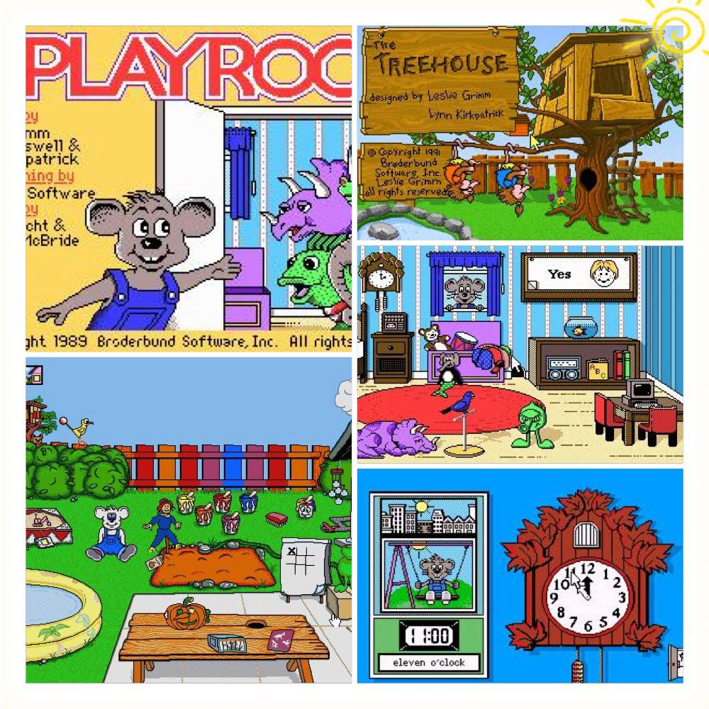 the playroom the treehouse the backyard educational games from