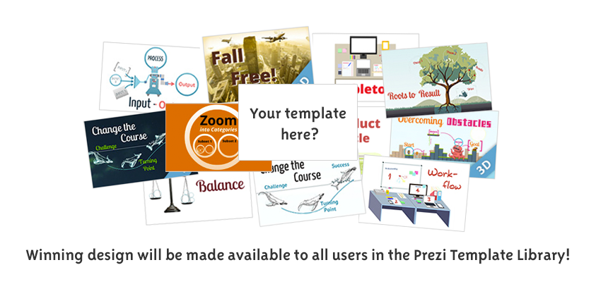 New Prezi Template Design Contest has just launched! How do you imagine a template that tells a huge success story?