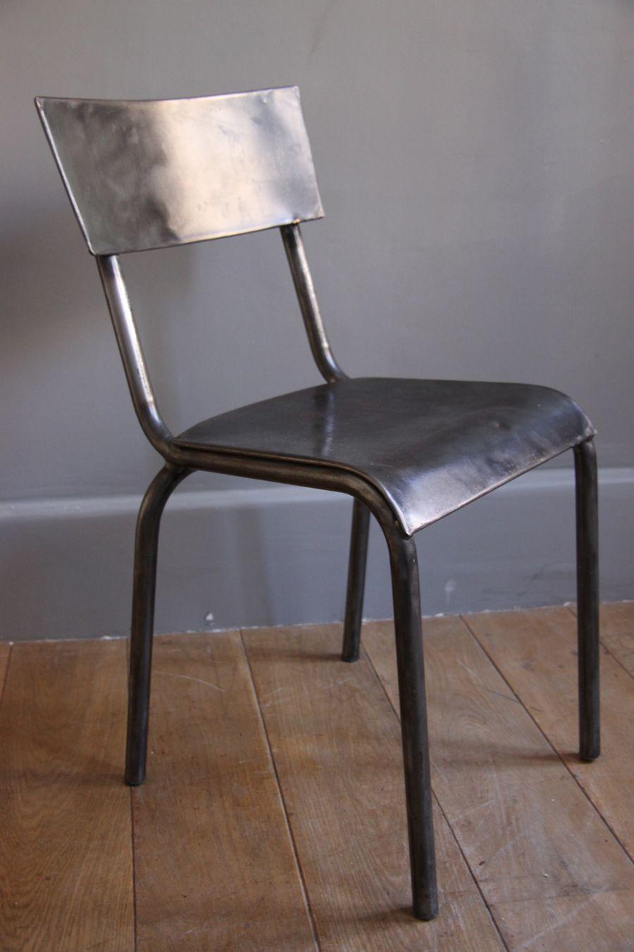 chaise en m tal brut petite belette chaise chair vintage chaises chairs pinterest. Black Bedroom Furniture Sets. Home Design Ideas