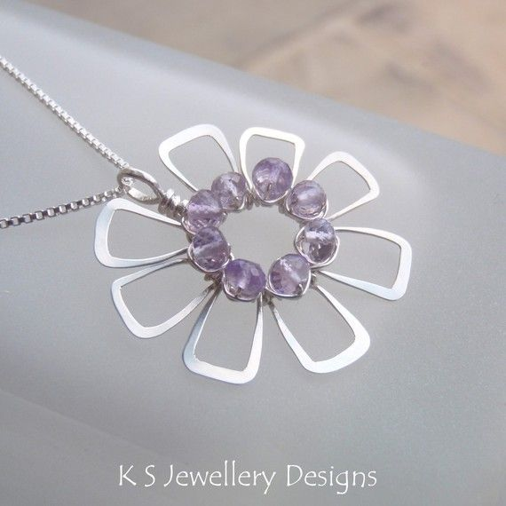 Wire Jewelry Tutorial JEWELLED FLOWERS 4 por KSJewelleryDesigns ...