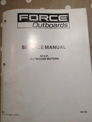 Service Manual Force Outboards 50 H P Force Manual Service
