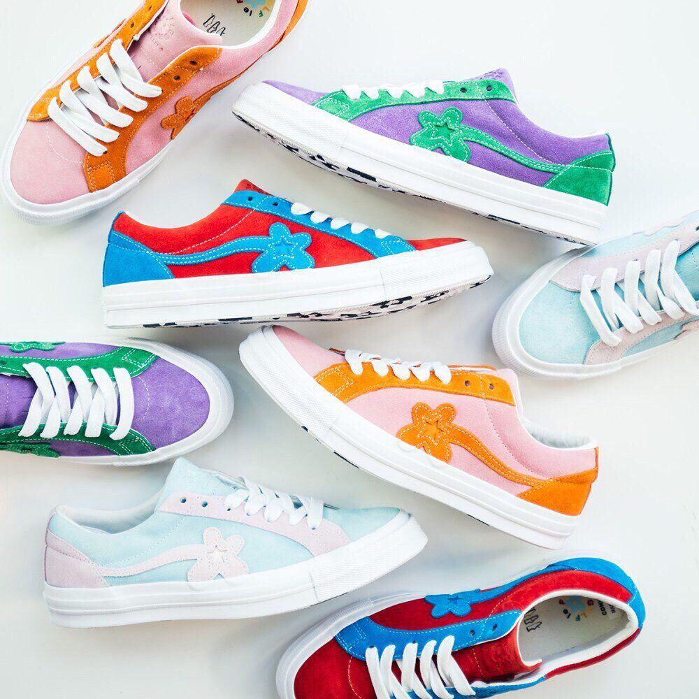 Pinterest Reflxctor Tyler The Creator X Converse Marvel Collaboration Red And Blue Orange And Pink Green And Womens Golf Shoes Golf Shoes Sock Shoes