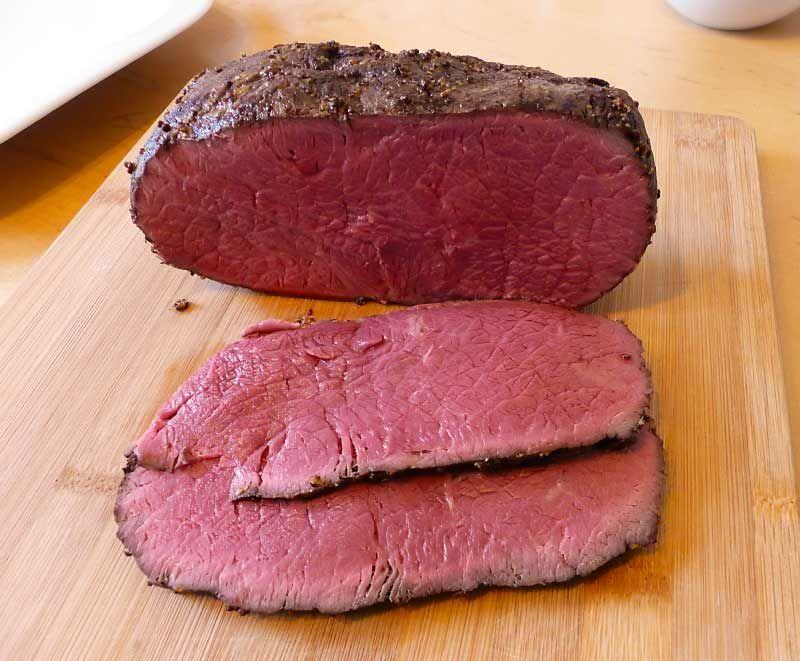 Roastbeef bei Niedrigtemperatur gegart - Kohlenhyd-Art #grilledporksteaks