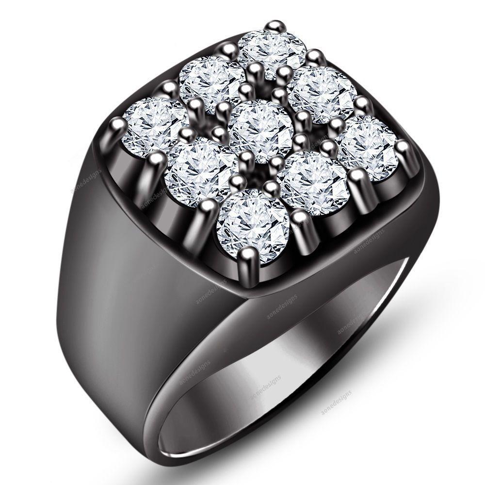 14 carat diamond men wedding bands