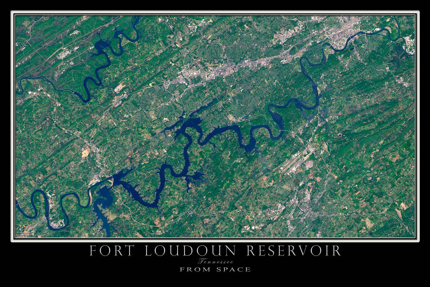 fort loudoun lake map The Fort Loudoun Lake Tennessee Satellite Poster Map With Images fort loudoun lake map