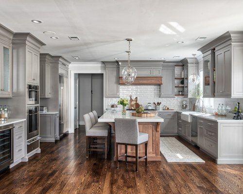 43 Inspirierende weiße Küchenschränke mit dunklen Böden Design-Ideen #darkkitchencabinets