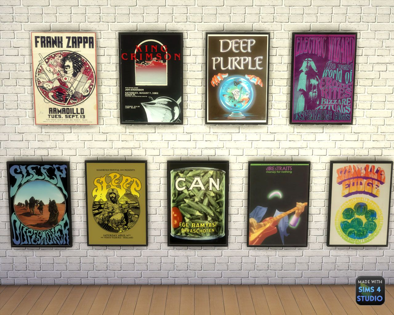 My sims 3 blog sims 3 collage wall decor by michelleab - Sims 4 Rock Posters 25 Swatches Mesh By Black S4rocker