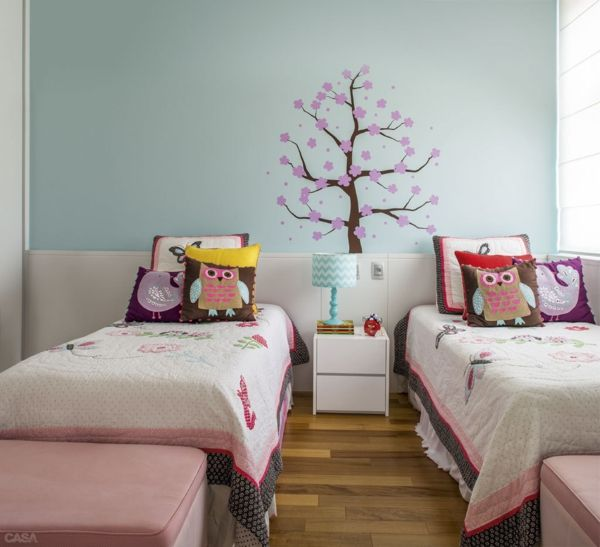 kinderzimmer gestalten geschwister zimmer farbliche wandgestaltung ... - Kinderzimmer Ideen Geschwister