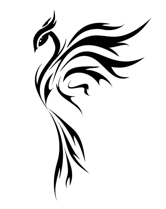 3fd7756bc black phoenix - different head 2 | Top Tats | Phoenix tattoo design ...