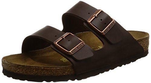 Birkenstock Unisex Arizona Brown Sandals - B(M) US Women  This Birko-Flor  dark brown upper with orthotic footbed provides excellent arch and  metatarsal ... b9de81ba73b