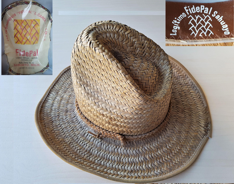 Vintage Authentic Legitimo Fidepal Sahuayo Mexico Western Straw Cowboy Hat Size 7 56 Cm Genuine Mexican Fab De Sombreros L Cardenas S Des Vintage Straw Hat Cowboy Hats Straw Cowboy Hat