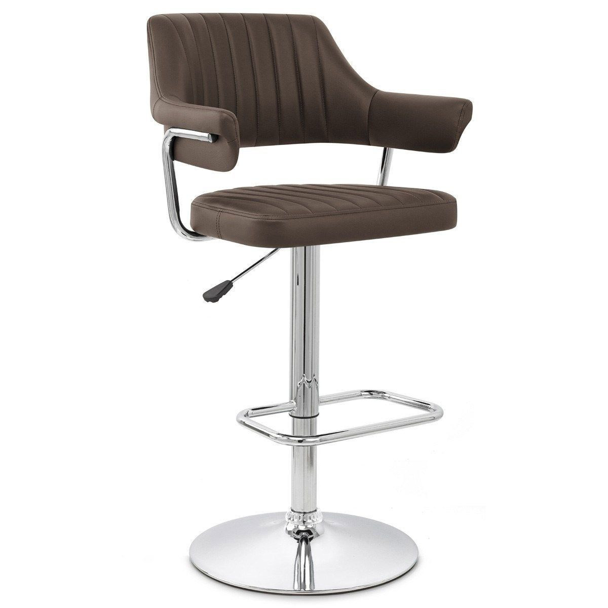 Tabouret De Bar Chic Simili Cuir Marron Skyline Mdt Tabouret De Bar Chaise Bar Bar Chic