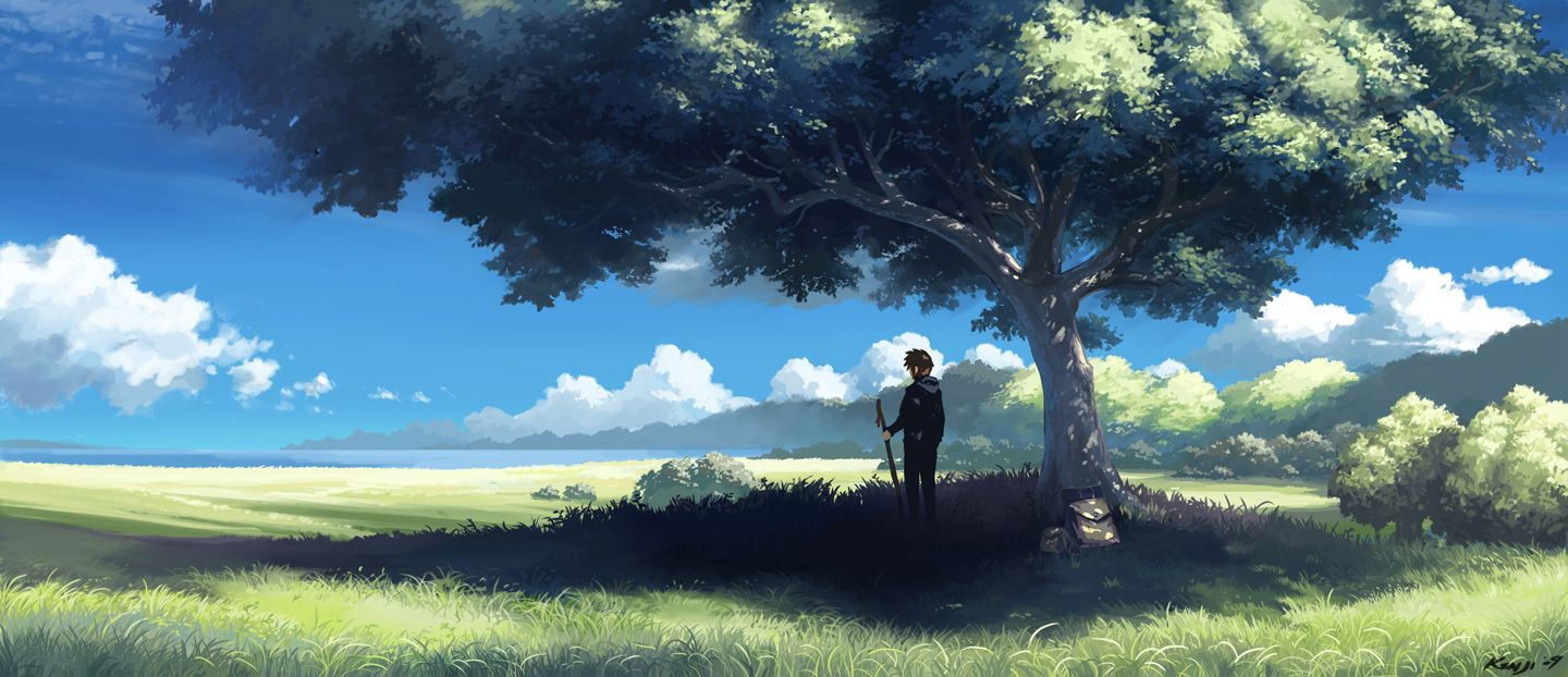 Peaceful Days Anime Scenery Anime Scenery Wallpaper Scenery Wallpaper