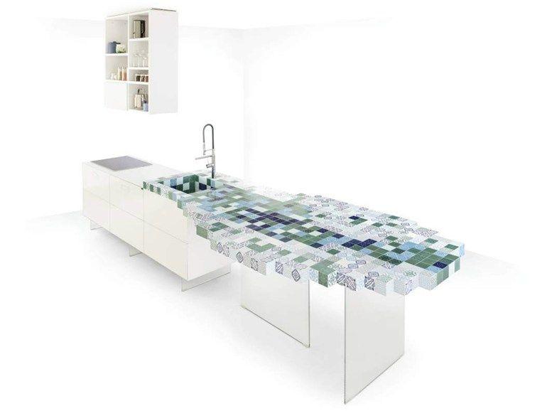 Rivestire mobili ~ Rivestimento per mobili in ceramica madeterraneo lago kitchens