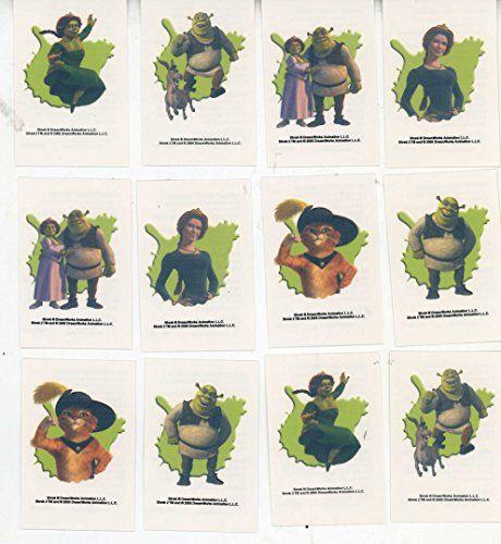 Sandylion Shrek Temporary Tattoos Set of 12 @ niftywarehouse.com
