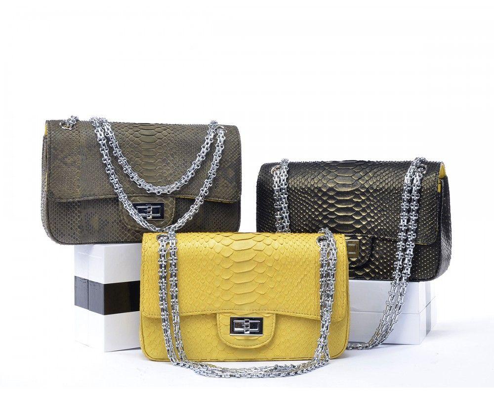 62bdf77aae3 Jranter Oliver Green Python Skin Evening Bag JPS001G | Python Skin ...