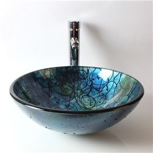 Eu Lager Modern Glas Waschbecken Rund Glass Bowl Sink Glass