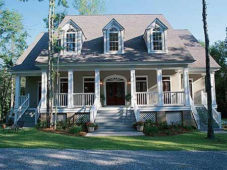Plan 60051rc Multiple Porches And Columns In 2021 Low Country Homes Country House Plans Country House Decor