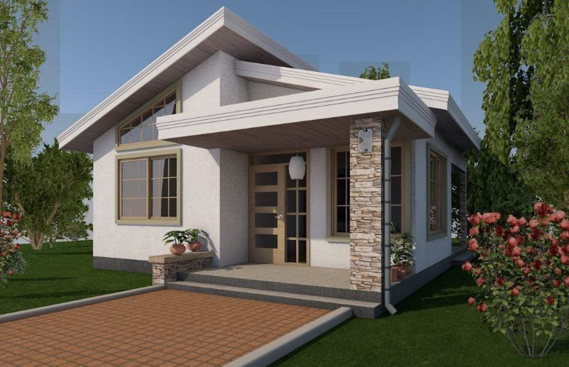 Small Lovely House Designs With 1 2 Bedrooms Simple House Design Philippines House Design Small House Design Philippines