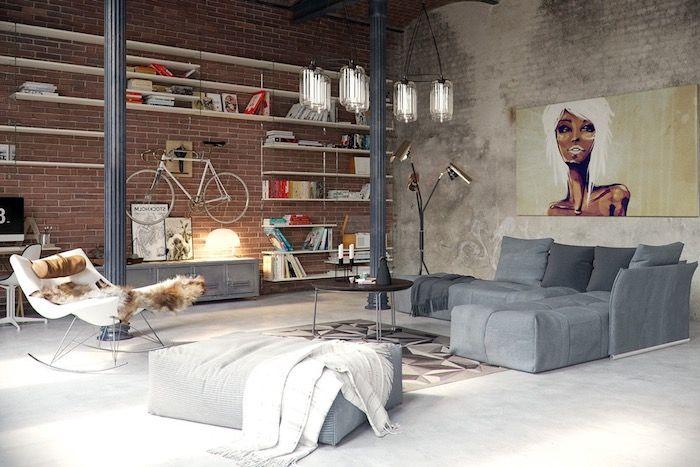 1001 + astuces et idées pour aménager le salon industriel parfait | Salon élégant, Salle de ...