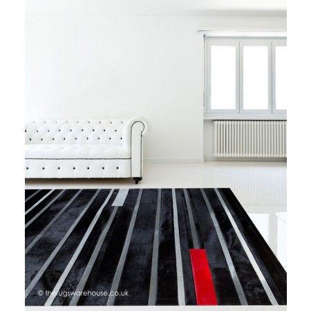 Emanuelle Noir Rug Modern Rugs Indoor Outdoor Carpet