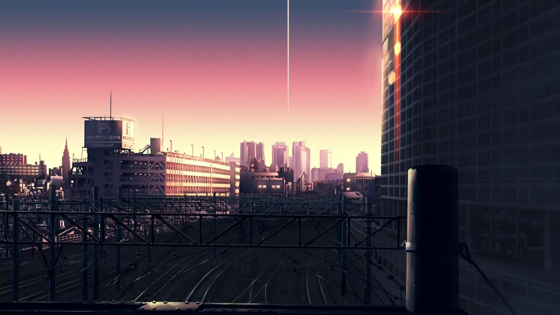 Cityscape City Town Anime Scenery Background Wallpaper
