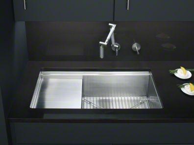 NEED This Sink :) · Undermount SinkKohler SinkCutting BoardSurface AreaWork  ...