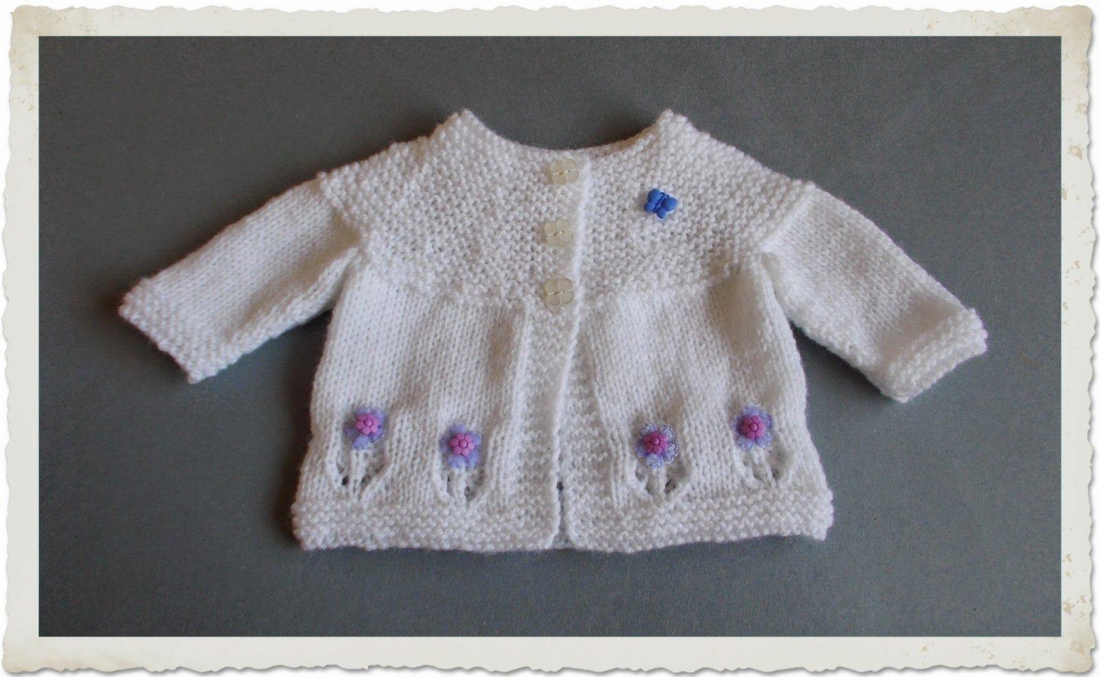 marianna\'s lazy daisy days - Fleur Baby Cardigan - free instructions ...