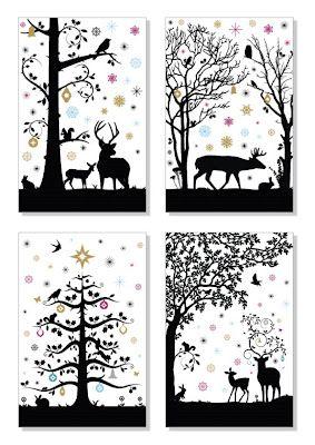 Decor De Noel Theme Foret A Imprimer