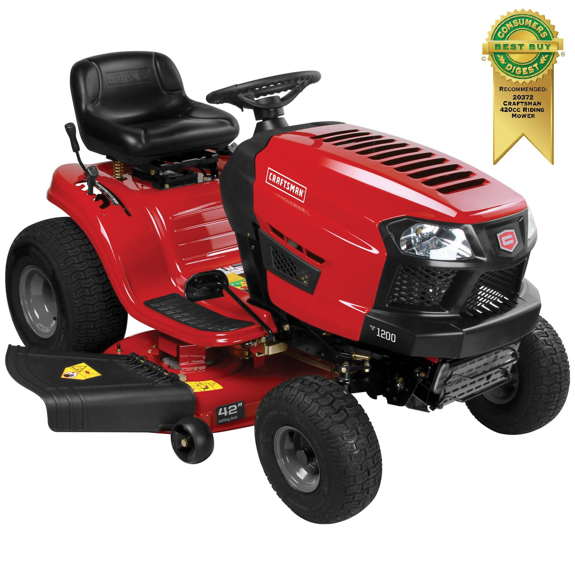Get a Great Looking Lawn with a Craftsman 420cc Automatic 42