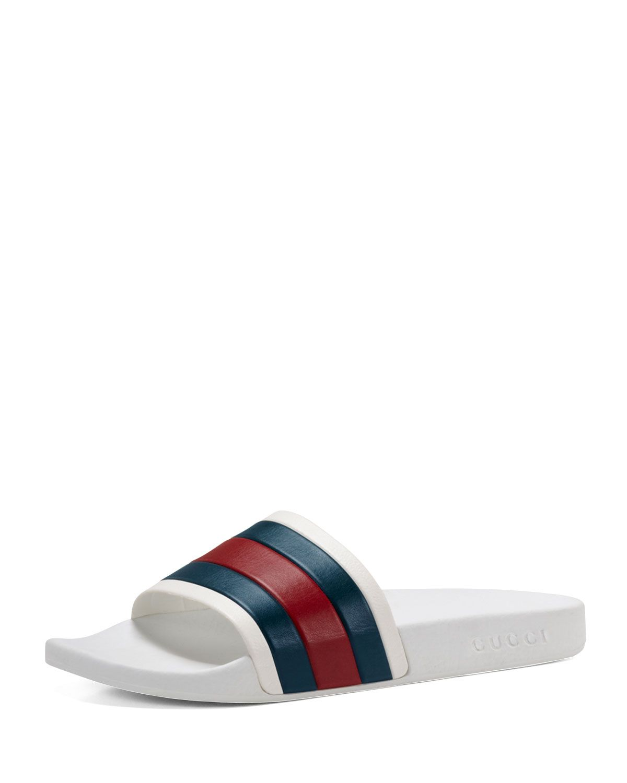 Mega Striped Thong Sandal Slides - Mens