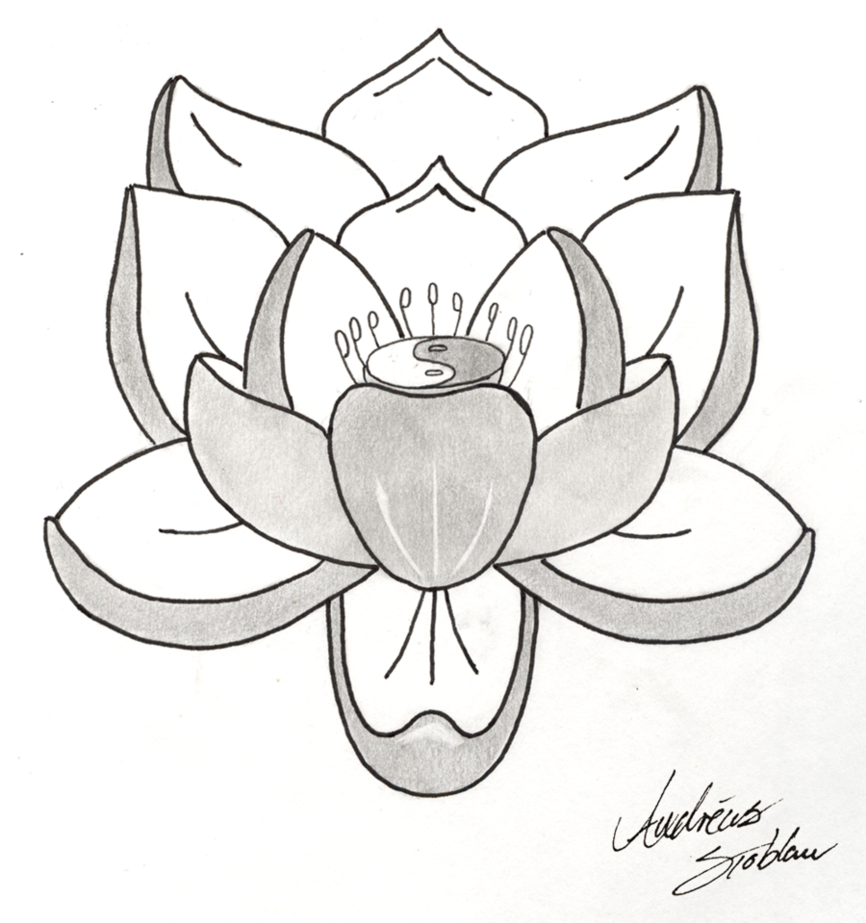 Pics For > Simple Lotus Sketch Simple lotus tattoo