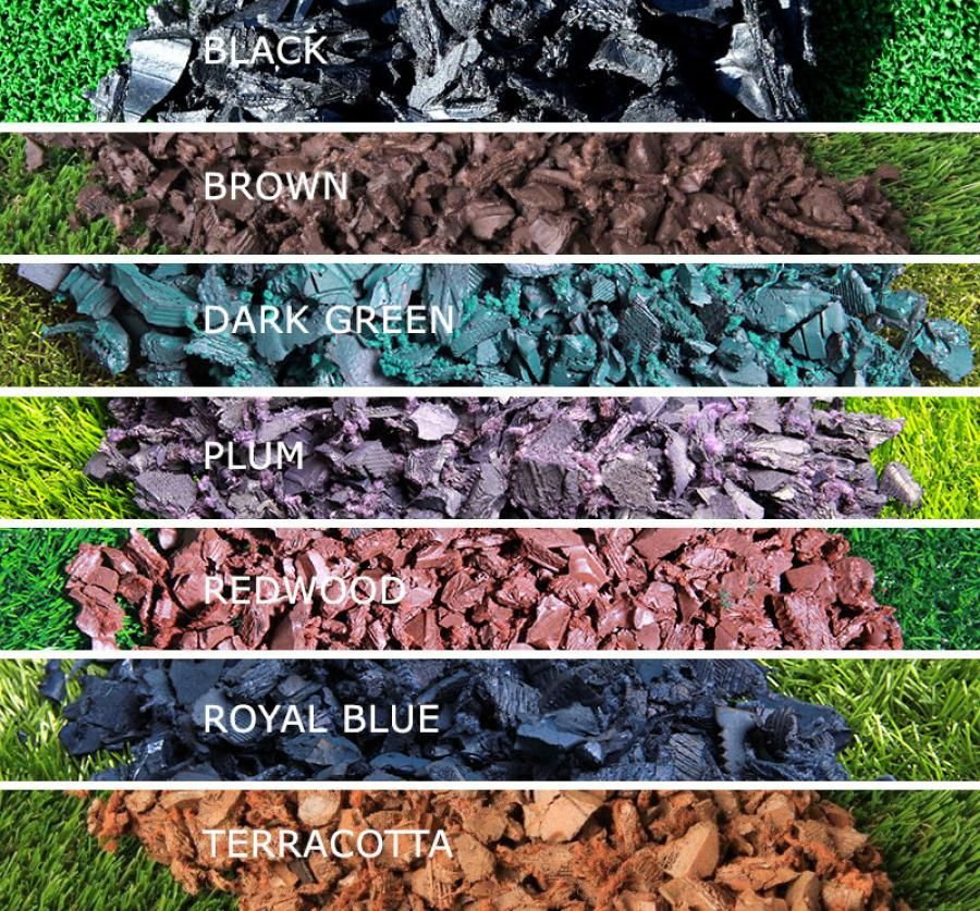 buy cheap hot sale online really comfortable Rubber Bark Chippings colour swatch | Bark chippings garden ...
