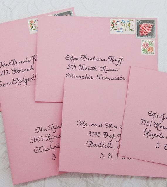 Wedding Calligraphy for Invitation Envelope Addressing Place – How to Address a Birthday Card