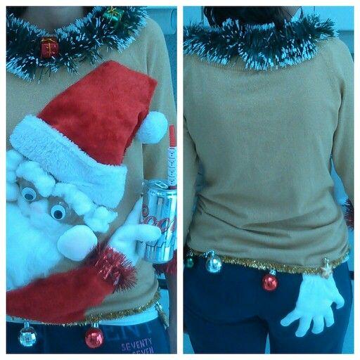 Diy Christmas Tree Sweater: DRUNKEN SANTA UGLY CHRISTMAS SWEATER