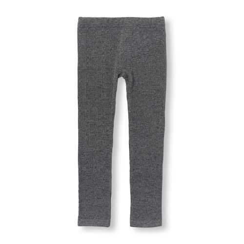 14908567282199 Girls Cable-Knit Fleece-Lined Leggings | Products | Cable knit socks ...