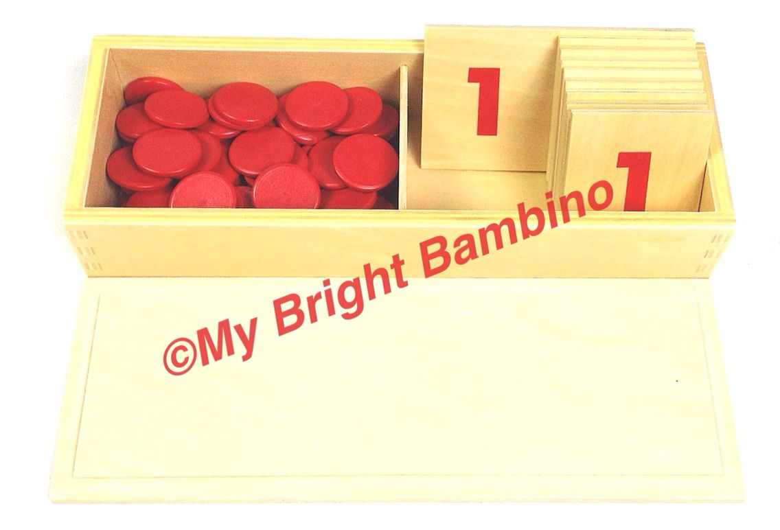 Wooden Number Cards And Counters Montessori