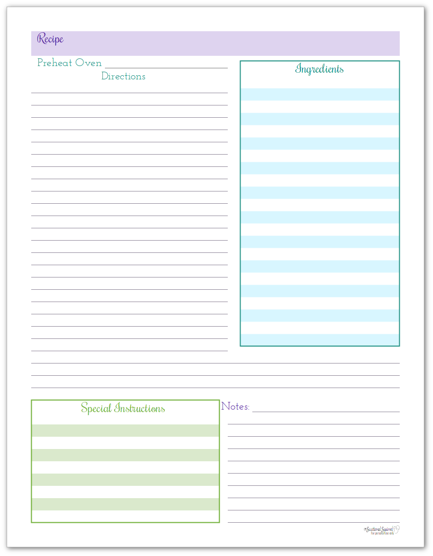 It is a photo of Astounding Happy Planner Recipe Printable