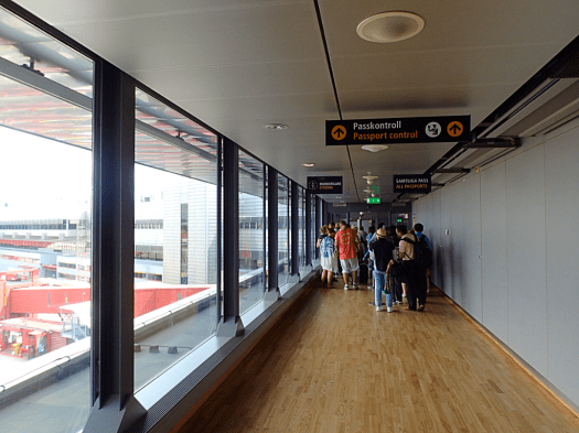 International Arrival Corridor At Stockholm Arlanda Airport In Sweden Photo Credit Accidental Travel W Travel Writer Business Class Stockholm Arlanda Airport