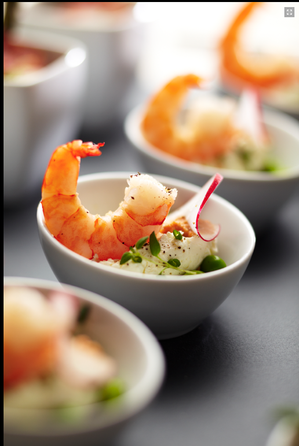 King prawn amuse bouche. I enjoyed creating several different tasty ...