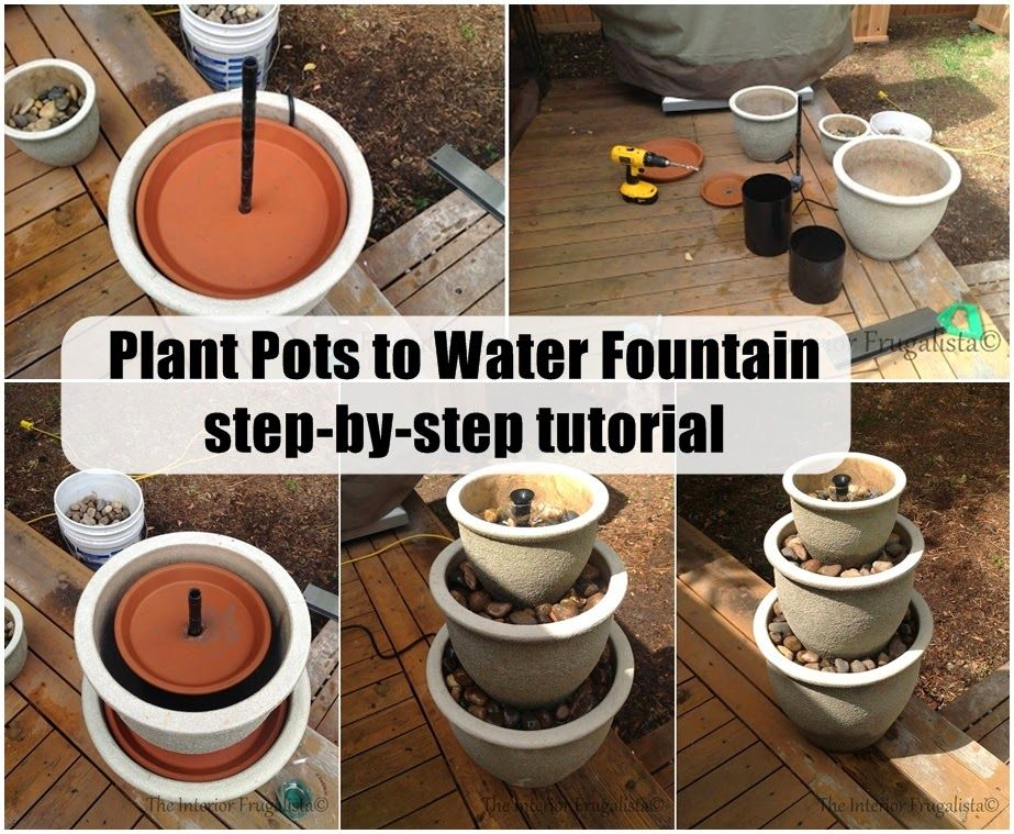 DIY Plant Pots to Water Fountain step-by-step tutorial