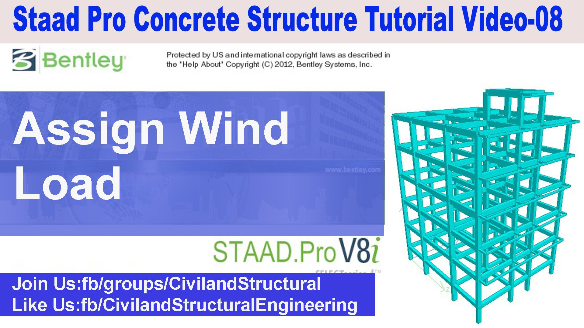 How to Assign Wind Load in Staad Pro V8i V 08 | Staad Pro