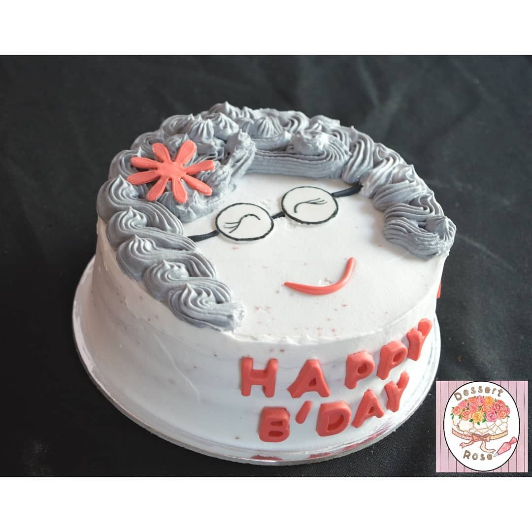 Birthday cake for a grandma with images birthday