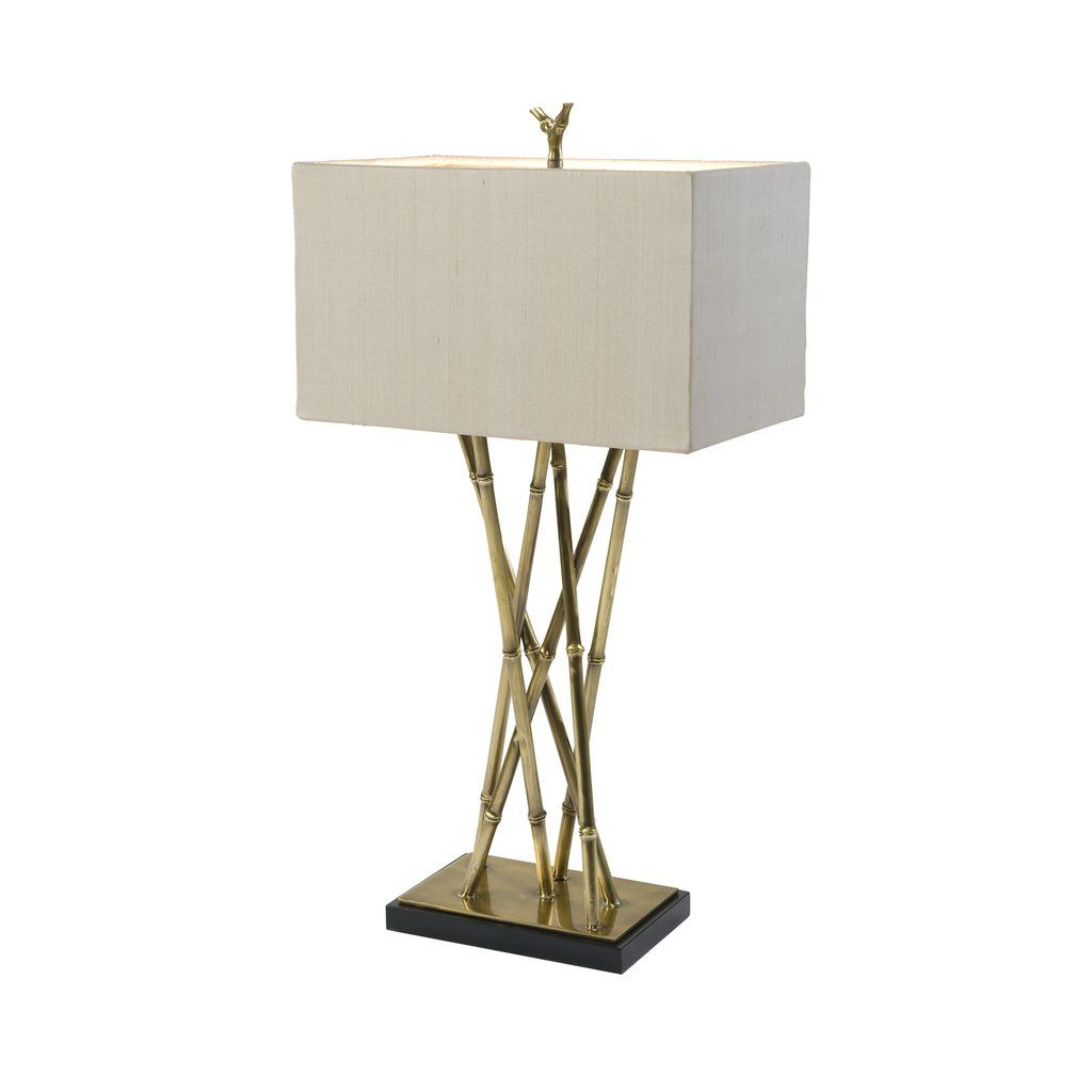 Brass bamboo table lamp bamboo table and georgian brass bamboo table lamp aloadofball Images